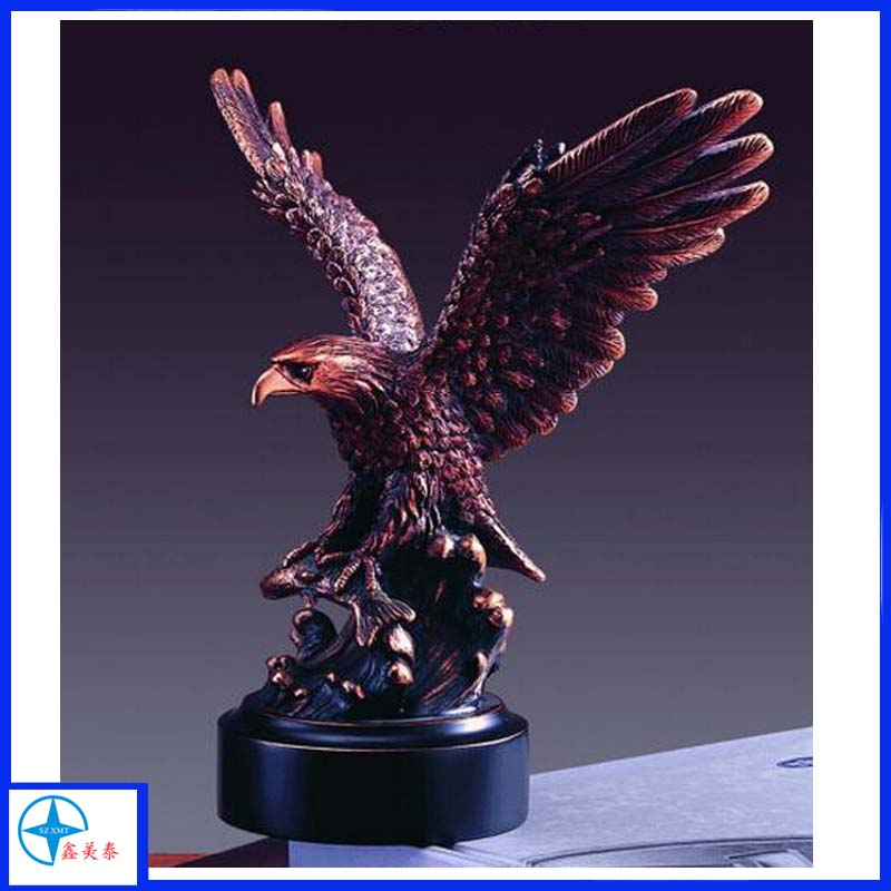Bronze Finish Resin Decorative Eagle Statue