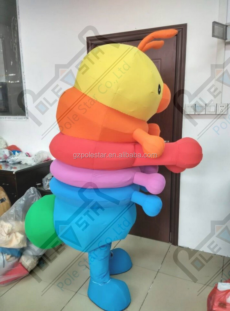 cute worm mascot costume cartoon insect costume