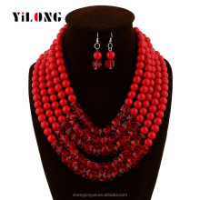 Chunky Statement Necklace 2016 Fashion DIY African Beads Jewelry Set
