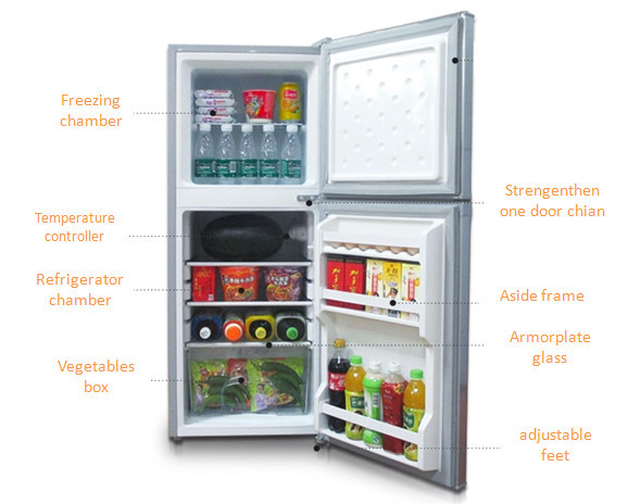 159L DC 12v Solar Fridge Refrigerator 0.46kwh Consumption for 24h