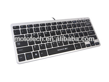 2017 Latest Model OEM Ultra Slim Flat keyboard/Ultra Silent and Fast One Section Chocolote USB Wired Laptop Keyboard