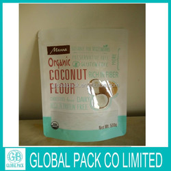 Matte printed doypack mylar bags ziplock pouch coconut packaging bags made in China