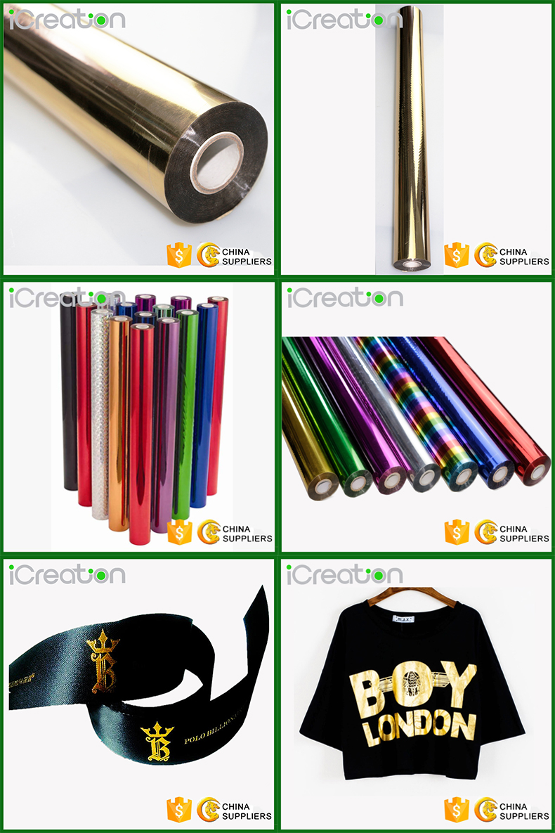 Light Golden Hot Stamping Foil/Film Roll Based on PET material for Textile/Clothing/T-Shirt with individual design for Wholesale