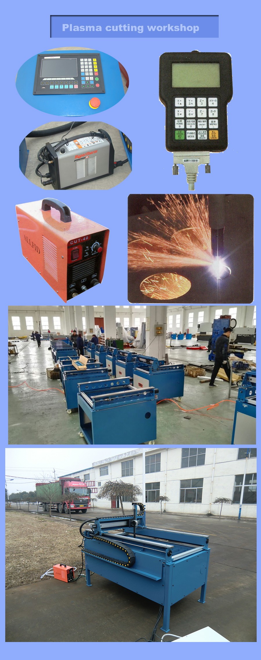 "PC 2""X4"" TTMC portable cnc plasma cutting machine"