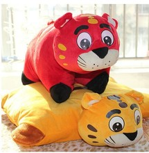 Foldable toy Cushion pillow stuffed tiger dolls and plush tiger