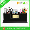 Multifunctional Faux PU Leather Desk Organizer