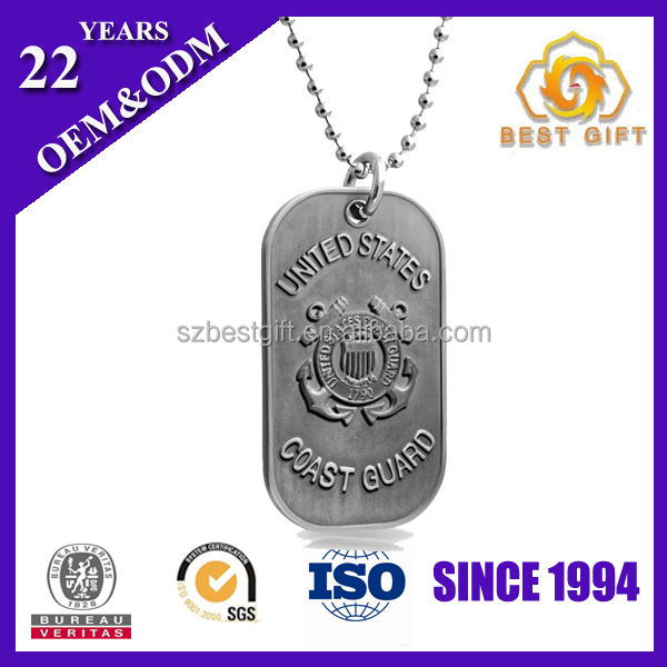 Iron based business custom METAL couple dog tag for steel