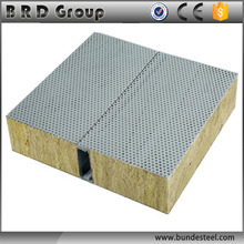 80 kg/m3 Fireproof Insulation Rock Wool Acoustic Wall Panel