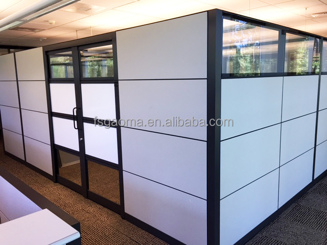 Aluminium frame wall glass partition cubicle standing partition