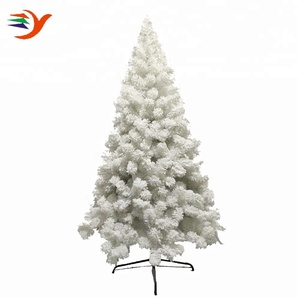 210cm snow flocking pvc white decoration artificial falling snow christmas tree