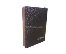 Cute leather PU notebook cover for holy quran