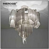 French Chain Luster Chandeliers Lighting Fitting Flush Mounted Chandelier Lamp For Foyer Restaurant Decoration MD2614