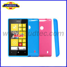 tpu gel case cover for nokia lumia 520 accessory made in china factory laudtec