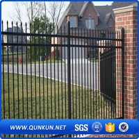 High Security Black Powder Coated Strong And Durable Security W Profiles Palisade Fencing System