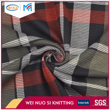 China wholesale Top-end Custom Elegant plaid dobby knitted jacquard fabric