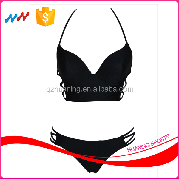 Wholesale Summer Black Bikini Set Sling Swimsuit Sexy Bikini