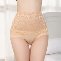 New transparent lace sexy see through women underwear high waist indian women wearing underwear cotton clothes pictures