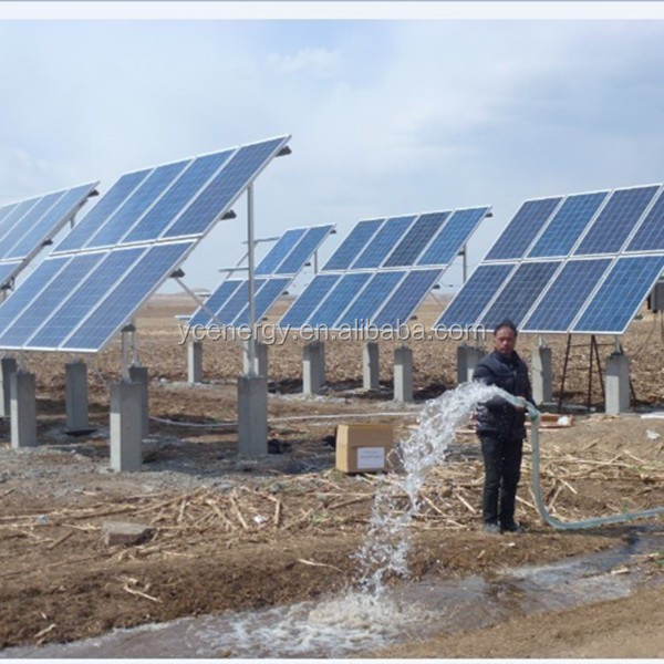 Submersible deep well solar water pump 7.5KW solar powered pumping system for irrigation