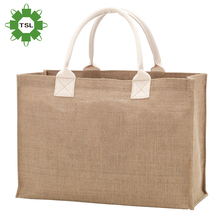 Eco-friendly customized reusable waterproof extra large collapsible fruit jute shopping bag