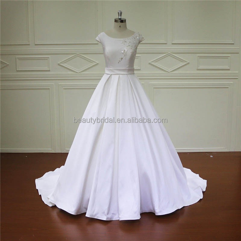 XF161-37 boutiques satin empire wholesale wedding dresses new york