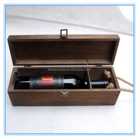 Made in China wooden wine box/pine wood wine boxes/wine presentation gift boxes
