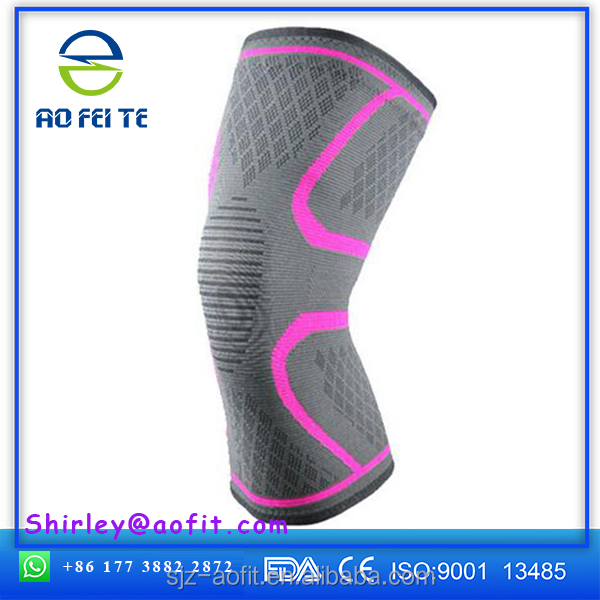 2017 Hot Selling breathable knitting nylon elastic knee support