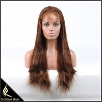 fashion 4/27# highlight color cheap natural straight indian remy human hair full lace wigs in stock