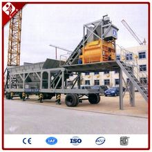 Good Price Thailand 25M3 Mini Mobile Movable Type Wet Concrete Batching Mixing Plant For Sale