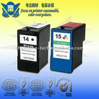 Remanufacture inkjet cartridge for 14/15 use for Lexmark printer