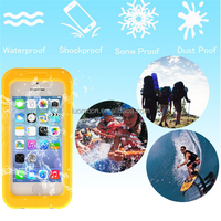 Waterproof silicone phone case for iphone 4 4s 5 5c