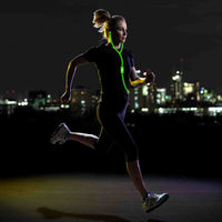 Most Popular Sport Visible Flowing LED Glow Flash Light Stereo Earphone With Mic EL Glowing Headsets