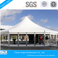 2015 New products transparent customized high peak tent