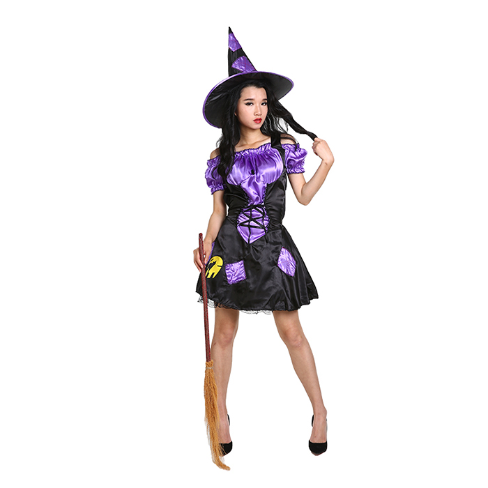 New Women Fashion Purple Fancy Dress For Girls Halloween Costumes China Wholesale