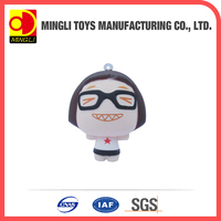 Factory custom Mini keychain Cartoon action figures for baby toy