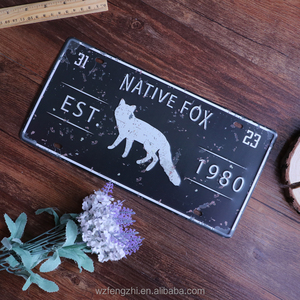 "Tin Signs/Metal Signs ""Native Fox"" , Bar Style,Vintage,Decoration,Party,Nostalgic,Cheap,Funny,Jumbo,Collectible,Animal,Cangnan"