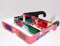 Hot selling cheap paper anaglyph red cyan 3d glasses