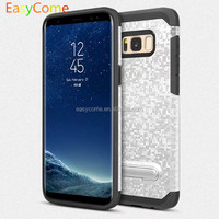 Masaic kickstand design PC+TPU for Samsung S8 phone case Unique texture tpu case for phone