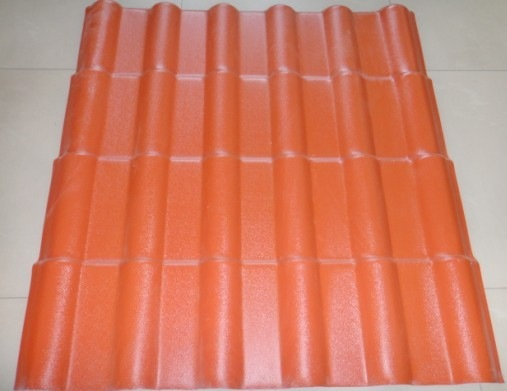 Color lasting portuguese PVC roof tile/ synthetic resin spanish sheet