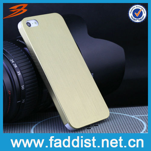 High Quality Metal Brushed Aluminum for Hard iphone 5 Cases