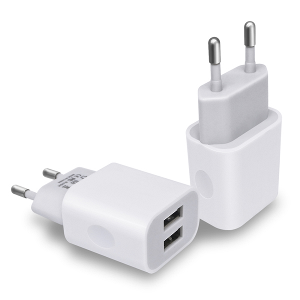 Mobile phone charger 5V 2A EU Plug 2 USB Port Micro USB Charger Wall Power adapter