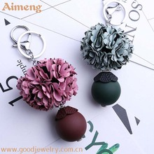 Korean version of creative flower lace pendant car key chain for women to wear plastic accessories