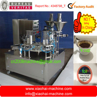 rotary type k-cup automatic coffee capsule filling sealing machine/rotary type nespresso coffee capsule filling sealing machine