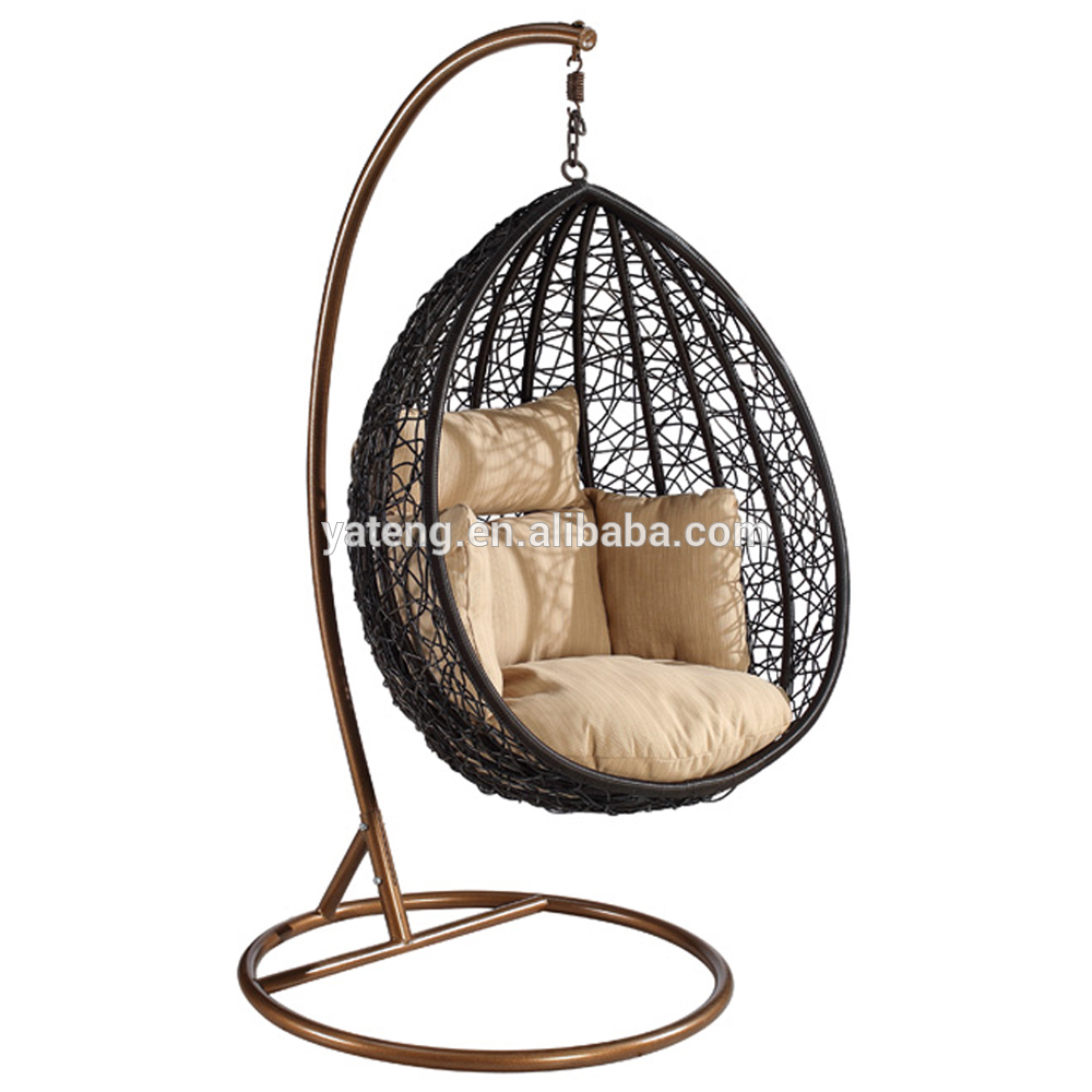 Synthetic Rattan Hanging Swing Chair Leisure Outdoor Swing Egg Chair