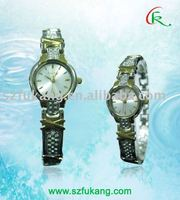 two tone plating watch with for lady with precise movement