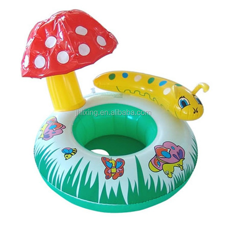 hot sales colorful pvc inflatable baby swimming ring floating