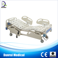 DR-B539 FDA/CE/ISO Approved Central Locking Wheels Three Functions Electric ICU Hill Rom Hospital Bed