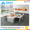 Functional 4 seats office desk fashion design by Lanpai