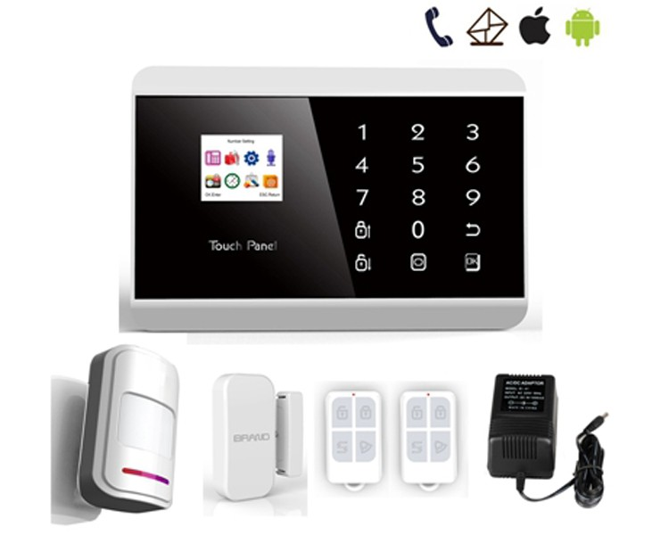 GSM+PSTN dual network/99 wireless zone/2 smart home security PSTN/GSM gsm alarm system