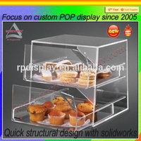 3 steps acrylic tower 3 tiers cake display holder and case