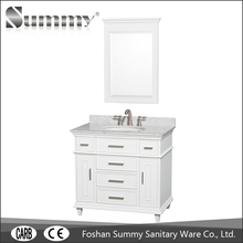 Special design solid wood bathroom space saver cabinet for hotel project